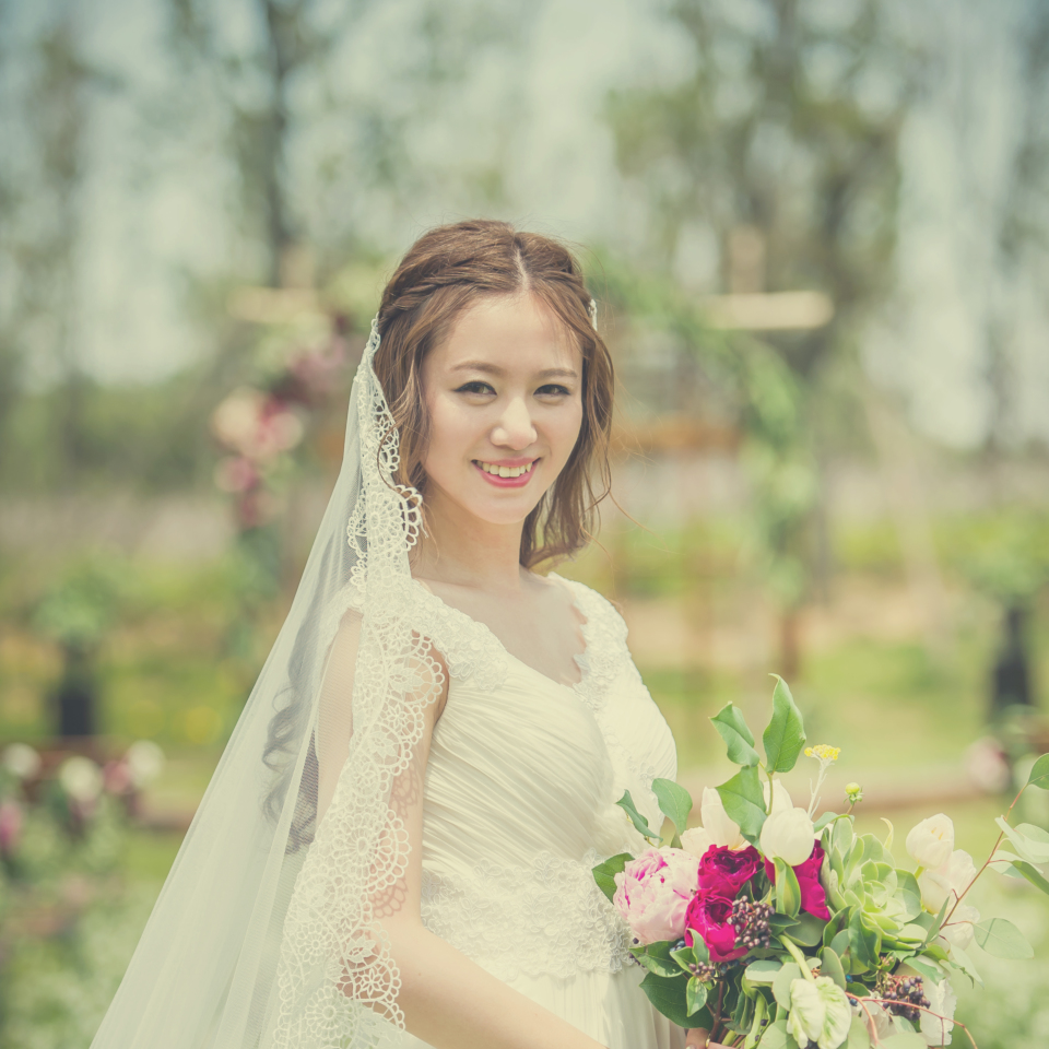 新娘太美,就好像是从画里走出来的女子