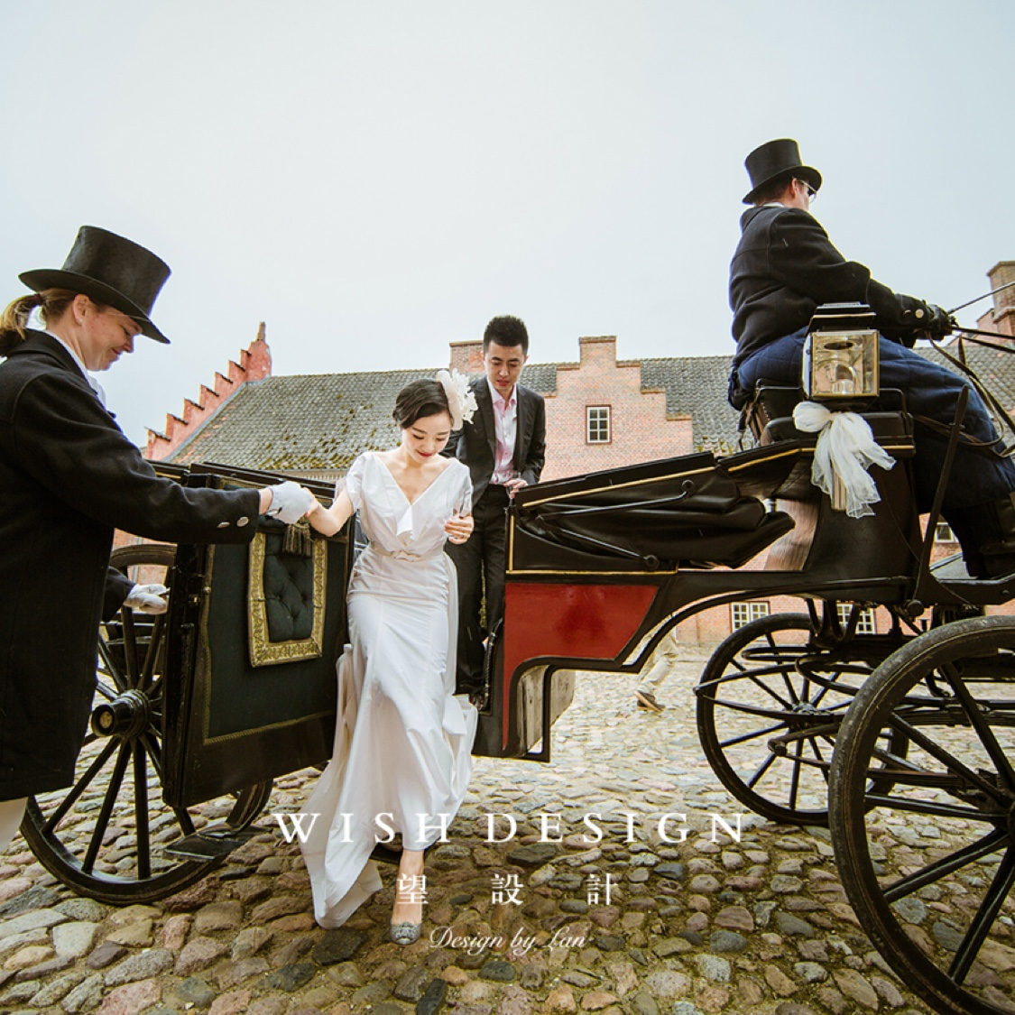城堡少女婚纱礼服